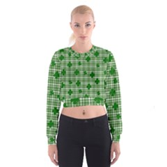 St. Patrick s day pattern Women s Cropped Sweatshirt