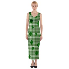 St. Patrick s day pattern Fitted Maxi Dress
