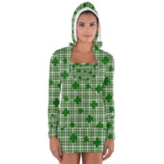 St. Patrick s day pattern Women s Long Sleeve Hooded T-shirt