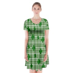 St. Patrick s day pattern Short Sleeve V-neck Flare Dress