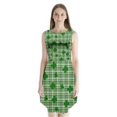St. Patrick s day pattern Sleeveless Chiffon Dress