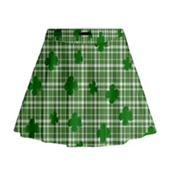 St. Patrick s day pattern Mini Flare Skirt