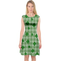 St. Patrick s day pattern Capsleeve Midi Dress