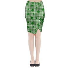 St. Patrick s day pattern Midi Wrap Pencil Skirt