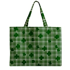 St. Patrick s day pattern Medium Zipper Tote Bag