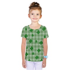 St. Patrick s day pattern Kids  One Piece Tee