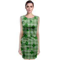 St. Patrick s day pattern Sleeveless Velvet Midi Dress