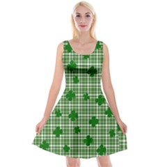 St. Patrick s day pattern Reversible Velvet Sleeveless Dress