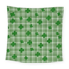 St. Patrick s day pattern Square Tapestry (Large)