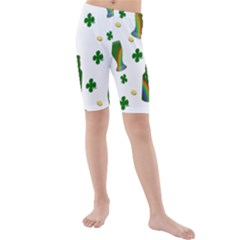 St. Patricks day  Kids  Mid Length Swim Shorts
