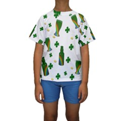 St. Patricks day  Kids  Short Sleeve Swimwear