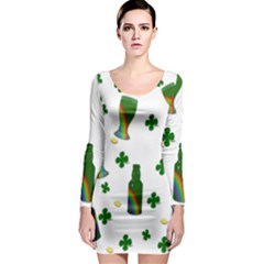 St. Patricks day  Long Sleeve Bodycon Dress