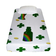 St. Patricks day  Fitted Sheet (Single Size)