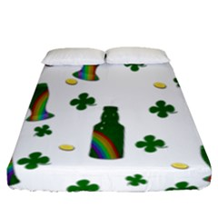St. Patricks day  Fitted Sheet (Queen Size)