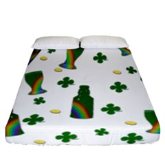St. Patricks day  Fitted Sheet (California King Size)
