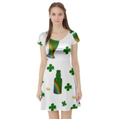 St. Patricks day  Short Sleeve Skater Dress