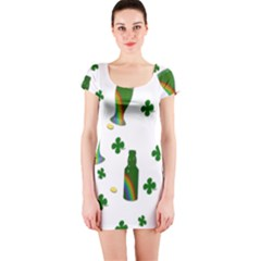 St. Patricks day  Short Sleeve Bodycon Dress