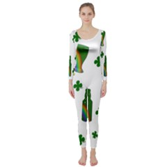 St. Patricks day  Long Sleeve Catsuit