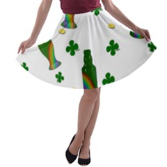 St. Patricks day  A-line Skater Skirt