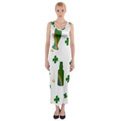 St. Patricks day  Fitted Maxi Dress