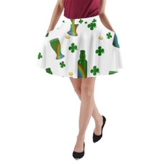 St. Patricks day  A-Line Pocket Skirt