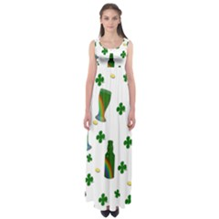 St. Patricks day  Empire Waist Maxi Dress