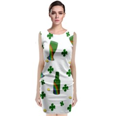 St. Patricks day  Classic Sleeveless Midi Dress