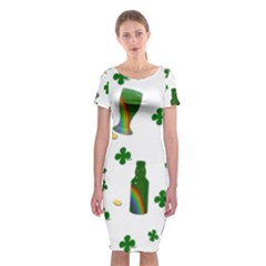 St. Patricks day  Classic Short Sleeve Midi Dress