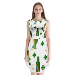 St. Patricks day  Sleeveless Chiffon Dress