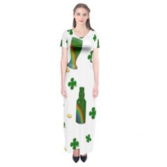 St. Patricks day  Short Sleeve Maxi Dress