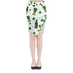 St. Patricks day  Midi Wrap Pencil Skirt