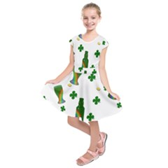 St. Patricks day  Kids  Short Sleeve Dress