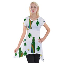 St. Patricks day  Short Sleeve Side Drop Tunic