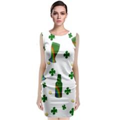 St. Patricks day  Sleeveless Velvet Midi Dress