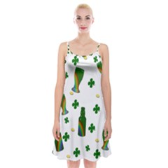 St. Patricks day  Spaghetti Strap Velvet Dress