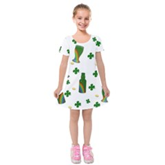 St. Patricks day  Kids  Short Sleeve Velvet Dress