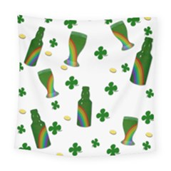 St. Patricks day  Square Tapestry (Large)