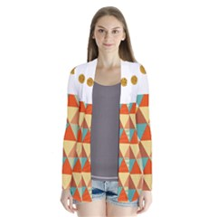 Golden Dots And Triangles Pattern Cardigans