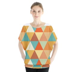 Golden Dots And Triangles Pattern Blouse