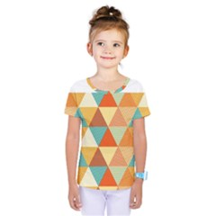 Golden Dots And Triangles Pattern Kids  One Piece Tee