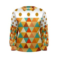 GOLDEN DOTS AND TRIANGLES PATERN Women s Sweatshirt