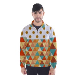 GOLDEN DOTS AND TRIANGLES PATERN Wind Breaker (Men)