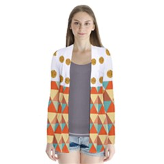 Golden Dots And Triangles Patern Cardigans