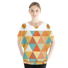 Golden Dots And Triangles Patern Blouse