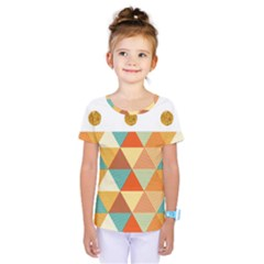 Golden Dots And Triangles Patern Kids  One Piece Tee