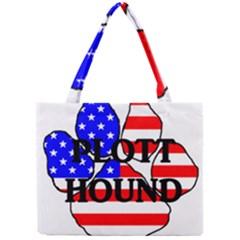 Plott Name Usa Flag Paw Mini Tote Bag
