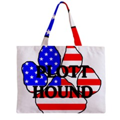Plott Name Usa Flag Paw Zipper Mini Tote Bag