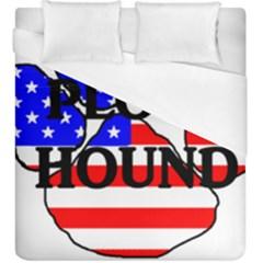 Plott Name Usa Flag Paw Duvet Cover (King Size)