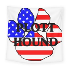 Plott Name Usa Flag Paw Square Tapestry (Large)