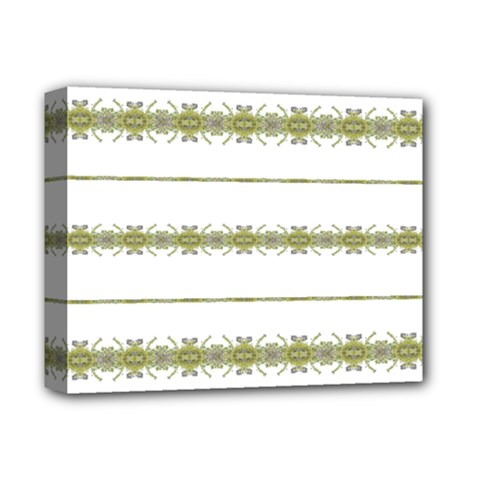 Ethnic Floral Stripes Deluxe Canvas 14  x 11